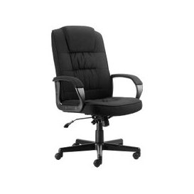 image-Muscat Fabric Executive Chair, Black, Free Next Day Delivery