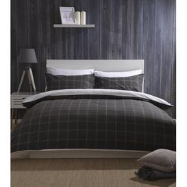 image-Vail Brushed Cotton Duvet Cover Set Belledorm Colour: Charcoal, Size: Double