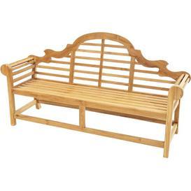 image-Monadnock Teak Bench Sol 72 Outdoor Size: 104cm H x 196cm W x 63cm D