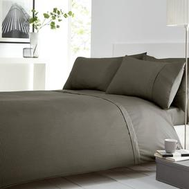 image-Waffle Grey Duvet Cover and Pillowcase Set Grey