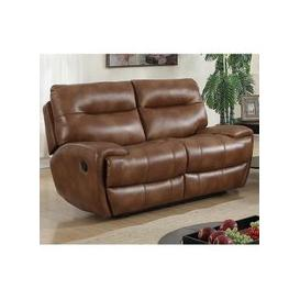 image-Orionis LeatherGel And PU Recliner 2 Seater Sofa In Brown