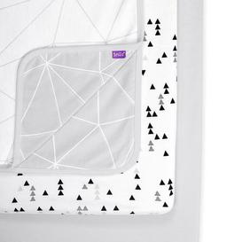 image-Snuz Three Piece Crib Grey Bedding Set Grey