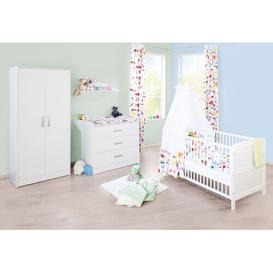 image-Viktoria 3 Piece Nursery Furniture Set Pinolino Größe (Wickelkommode): 90cm H x 88cm W x 75cm D