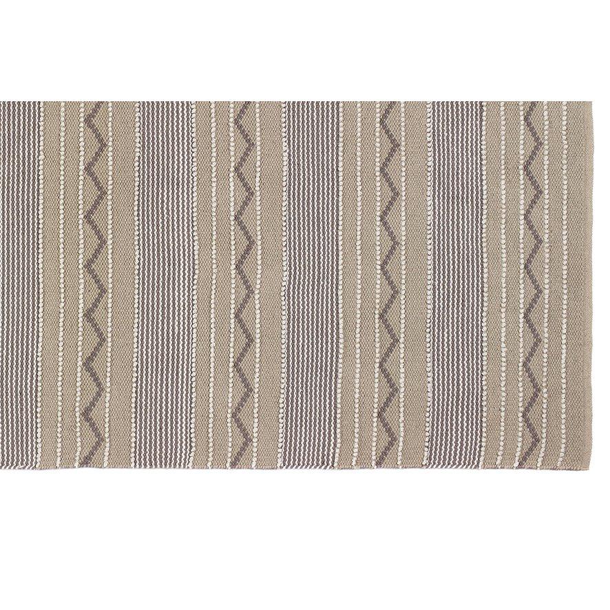 image-Rustic Stripe Rug 80 x 150cm, Natural / Brown