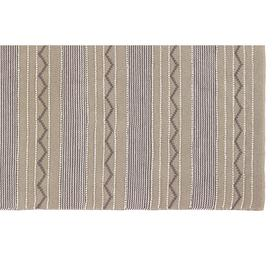 image-Rustic Stripe Rug 80 x 150cm, Natural / Brown