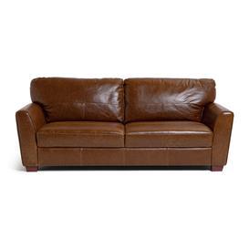 image-Habitat Milford 4 Seater Leather Sofa - Tan