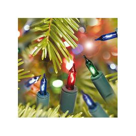 image-20, 40, 100 Shadeless Multicoloured Christmas Fairy Lights with Green Cable [100]