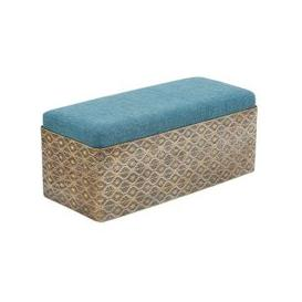 image-Royalcraft Contemporary Bench In Iron And Fabric