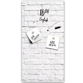 image-White Bricks Magnetic Wall Mounted Memo Board East Urban Home