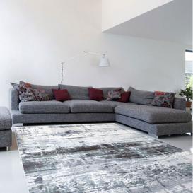 image-Galleria Modern White and Grey Rug 200cm x 290cm