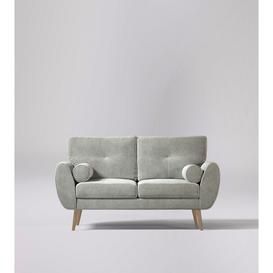 image-Swoon Egle Two-Seater Sofa in Ice Grey Easy Velvet With Light Feet