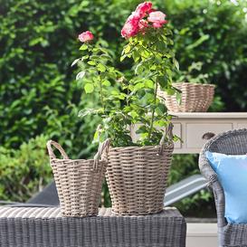 image-Ivyline Set of 2 Natural Polyrattan Baskets Natural