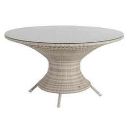 image-Alexander Rose Ocean Pearl Garden Wave Round Table With Glass Top