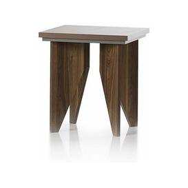 image-Michigan Wooden Lamp Table Sqaure In Walnut And Grey