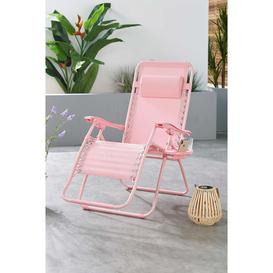image-Pink Royale Lounger with Pillow and Holder