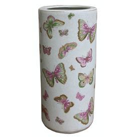 image-Ceramic Umbrella Stand, Butterfly Design