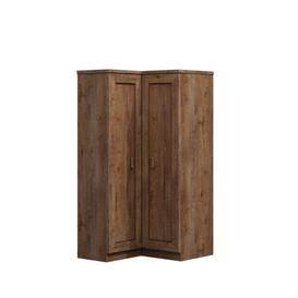 image-Manningtree 2 Door Sliding Corner Wardrobe Union Rustic