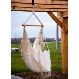 image-Edith Cotton Hanging Chair Freeport Park Colour: Natural