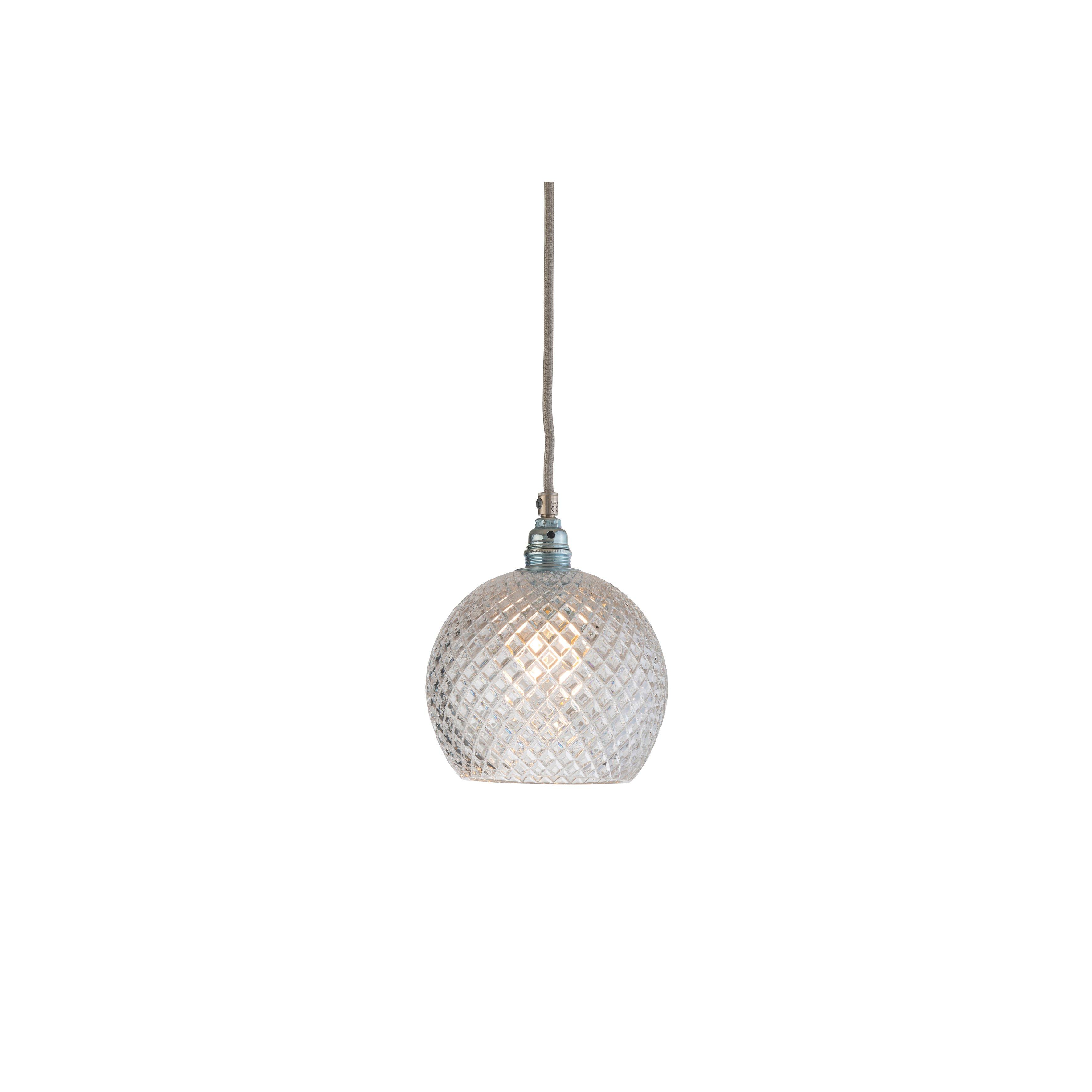 image-Rowan Crystal Pendant Lamp, 15.5cm , Small Check