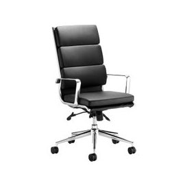 image-Formosa High Back Black Leather Faced Executive Chair, Black, Free Standard Delivery