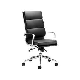 image-Formosa High Back Black Leather Faced Executive Chair, Black