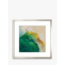 image-Jenny Westenhofer - 'Abstract I' Wood Framed Print & Mount, 58 x 58cm, Green/Multi