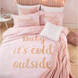 image-Baby It's Cold Outside Duvet Cover Set Catherine Lansfield Bed Size: KIng