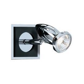 image-Comet Chrome And Black Wall Adjustable Spotlight