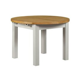 image-Lundy Grey Dining Table - Round Extending