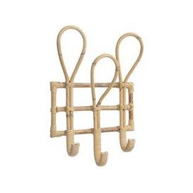 image-Toba Three Hook Cane Coat Rack