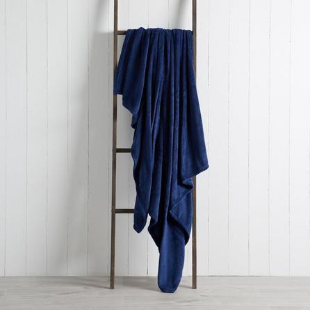 image-Soft Fleece 130cm x 170cm Throw Navy
