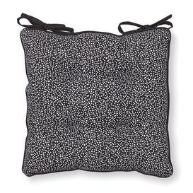 image-Dottie Seat Pad Black and White