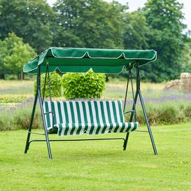 image-3-seater Outdoor Swing Chair With Canopy