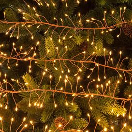 image-A by AMARA Christmas - 240 Copper Cluster Dewdrop Lights - Amber