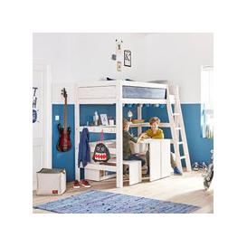 image-Lifetime Kids High Sleeper Bed with Slanted Ladder - Lifetime White