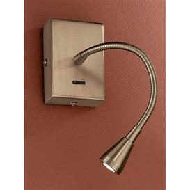 image-W042 Bronze LED Adjustable Reading Wall Light