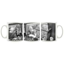 image-Christmas Windowsill Coffee Mug East Urban Home Colour: Black/White