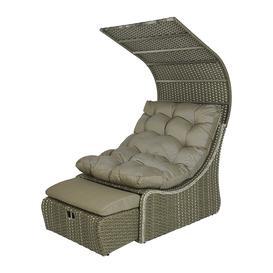 image-A by AMARA - Outdoor Wicker Daybed with Roof - Taupe