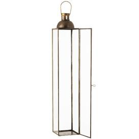 image-Square High Antique Lantern Breakwater Bay Size: 65cm H x 14cm W x 14cm D