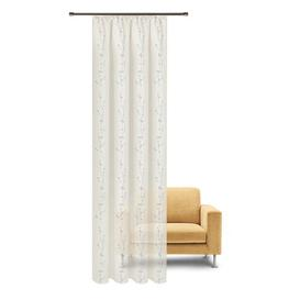 image-Parnell Pencil Pleat/Slot Top Semi Sheer Curtain Brambly Cottage Colour: Misty blue