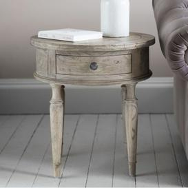 image-Marianne Round 1 Drawer Side Table