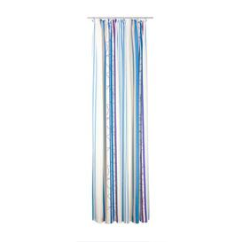 image-Peachey Pencil Pleat Blackout Single Curtain Mercury Row Colour: Blue, Size: 130 W x 180 D cm