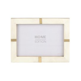 image-Cream and Gold Photo Frame 18x13