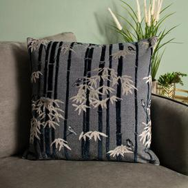 image-Eveleth Anji Velvet Cushion with Filling Bay Isle Home Colour: Navy