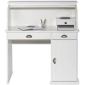 image-Cuthbert Secretary Desk Beachcrest Home Colour: White