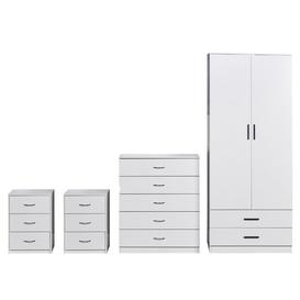 image-Benjy 4 Piece Bedroom Set Ebern Designs Colour: White