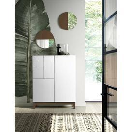 image-18 Pair Shoe Storage Cabinet Rebrilliant Finish: White/Walnut