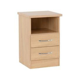 image-Nunky Bedside Cabinet In Sonoma Oak With 2 Drawers