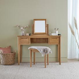 image-Natural Solid Oak Dressing Table Mirrors - Dressing Table Mirror - Copenhagen Range - Oak Furnitureland