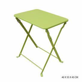 image-Stirling Folding Steel Side Table Dakota Fields Colour: Green Anise